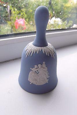 Wedgwood Christmas Bell 1999 Blue Jasperware British
