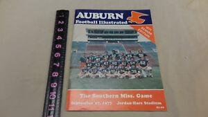 1977 Auburn vs. Southern Miss Football Program | eBay