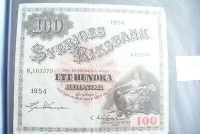 Ancien Billet - 100 Kronor SuÈde 1954 - Etat Ttb !!! Gediversifieerd In Verpakkingen