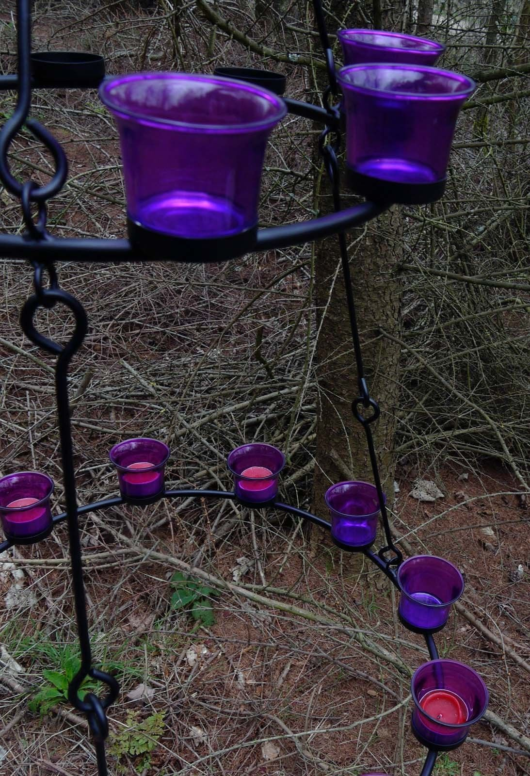 Dekorativer Teelichthalter  Teelicht Kronleuchter für den Garten oder Rundzeit Rundzeit Rundzeit 24cac4
