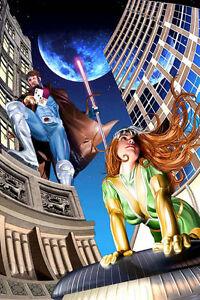 ROGUE PRINT HAND SIGNED Neal Adams DC X-Men w COA