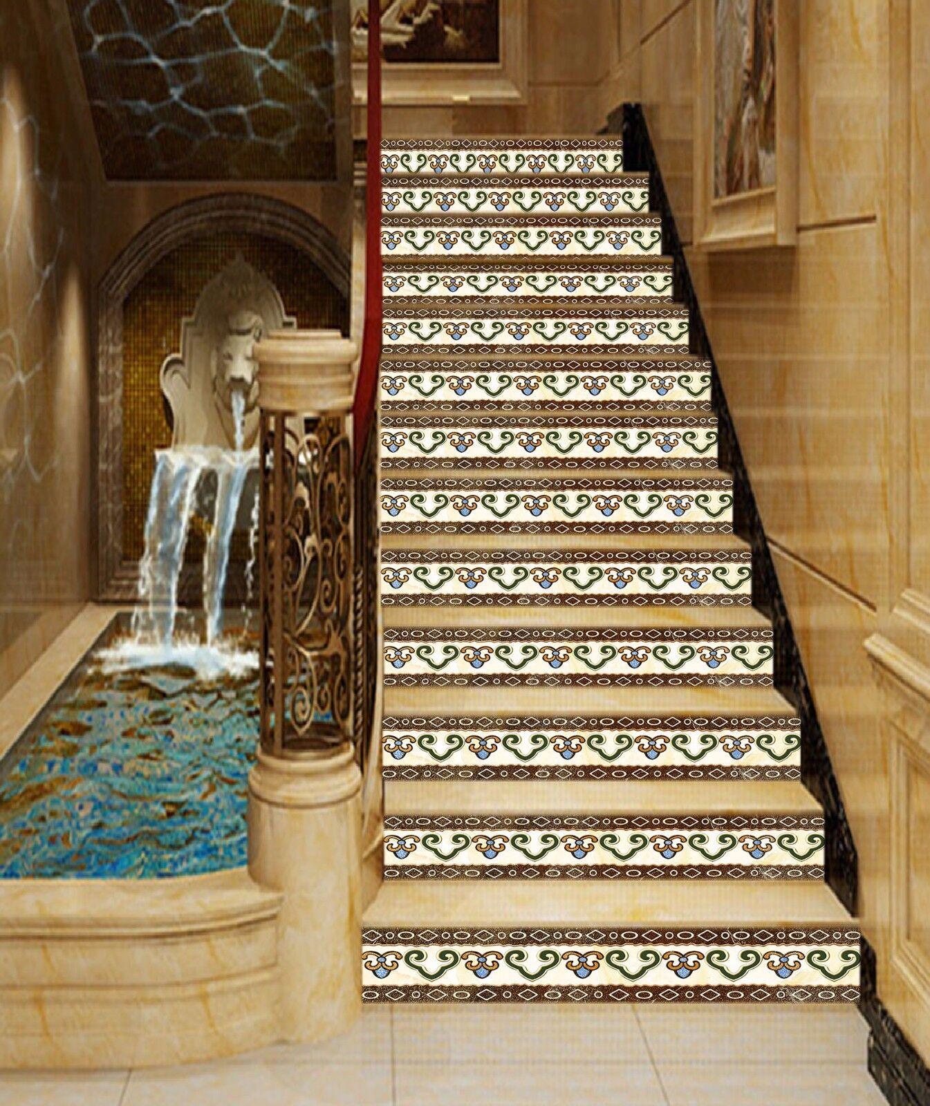 3D Design 62 Stair Risers Decoration Photo Mural Vinyl Decal Wallpaper AU Lemon