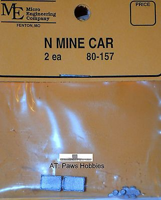 N scale Mine Cars made of metal 2 in package  Item 80-157 Sells for $3.85
