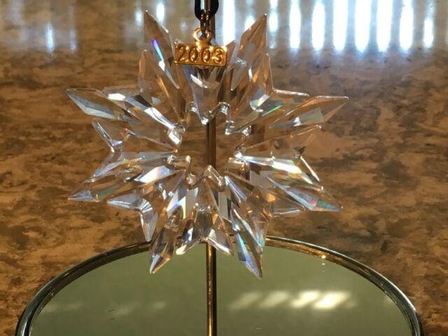 SWAROVSKI CRYSTAL 2003 ANNUAL STAR SNOWFLAKE CHRISTMAS ORNAMENT MINT - 2003 Swarovski Crystal Star Snowflake Christmas Annual Ornament EBay