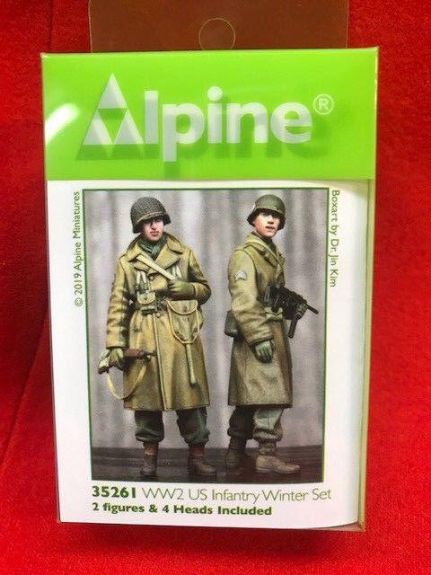 Alpine Miniatures 1 35th US Infantry Winter Set, NIP, 2 Figur Set, kit 25261