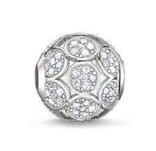 New THOMAS SABO Silver Sparking Circles Cubic Zirconia Set Karma Bead K0147 £110