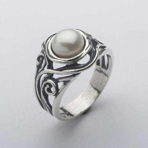 R01181SP SHABLOOL IL Didae Handmade Pearl Sterling Silver 925 Ring Sz 6 7 8 9
