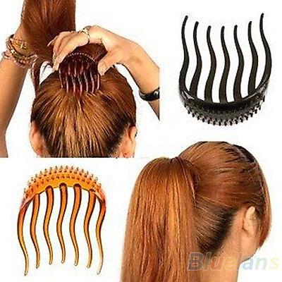 Useful Volume Inserts Hair Clip Bumpits Bouffant Ponytail Hair Comb Bun Maker B5