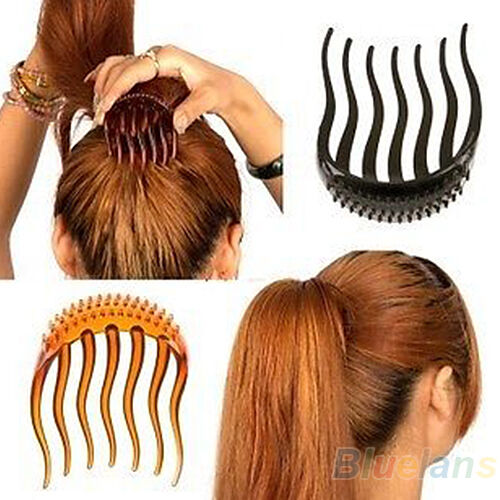 Bump It Up Vogue Hair Inserts Clip Bouffant Bumpits Ponytail Bun Hair Comb BE2A