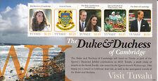 Tuvalu 2012 MNH Duke & Duchess Cambridge Visit 5v M/S Will Kate Prince William