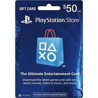 $50 Us Playstation Network Store Psn Gift Card (physical Card Mail Out)