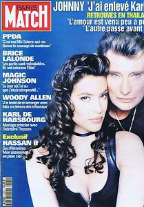 couverture magazine coverage paris match 11 02 93 johnny hallyday karine ebay. Black Bedroom Furniture Sets. Home Design Ideas