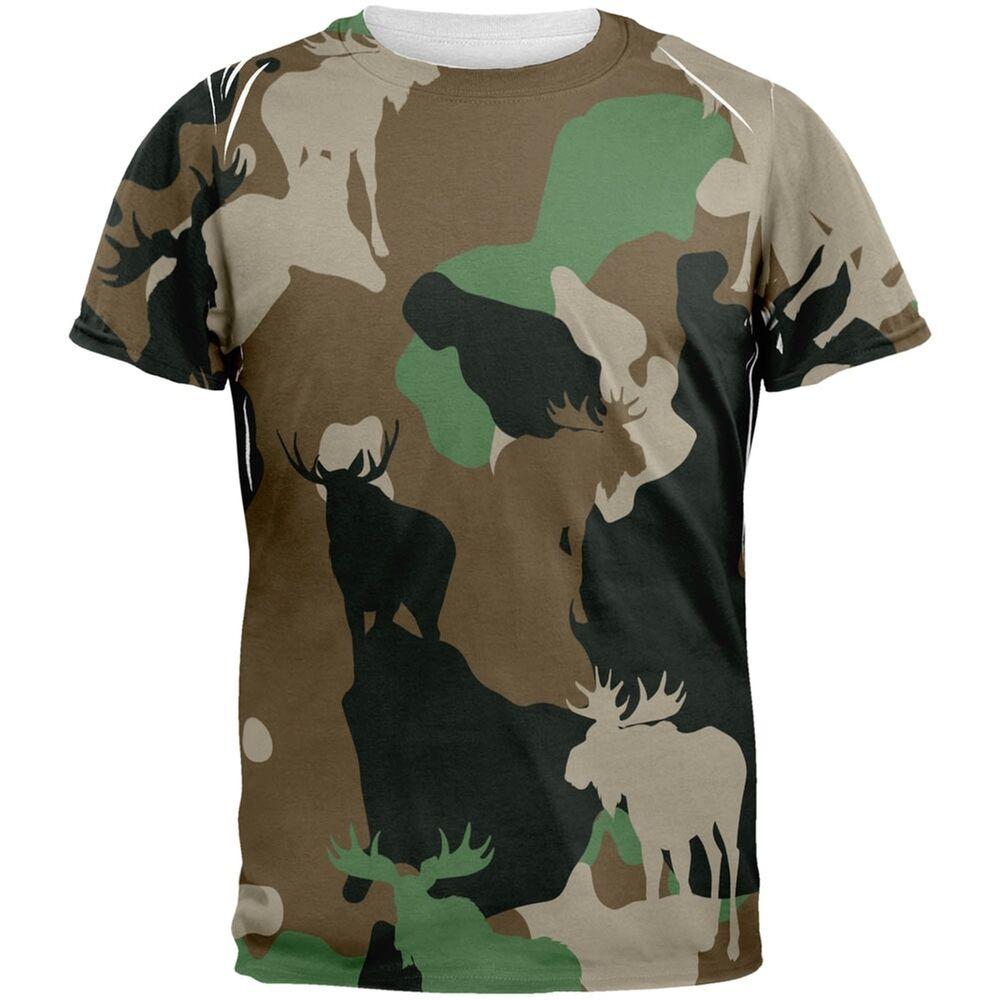 Moose Jungle Camo All Over Adult T-Shirt