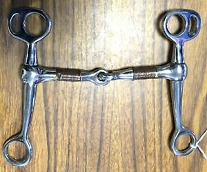 """New Western Tom Thumb Bit 5"""" Copper Wire Wrapped Snaffle Mouth Shank Horse Tack"""