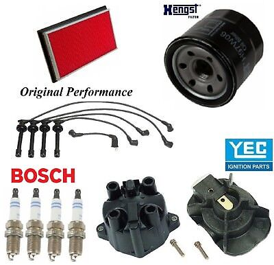TUNE UP KIT SET FOR 1994-1996 TOYOTA CAMRY 2.2L 4CyL CAP ROTOR FILTERS PCV PLUGS