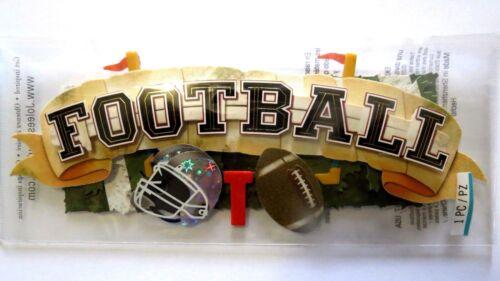 Football Title  Goalposts Helmet NFL Field SUPER BOWL Jolee/'s 3D Stickers