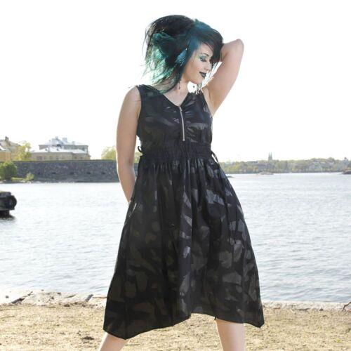 Vixxsin FLY AWAY DRESS Ladies Black Goth Emp Punk Cheap Sale Bargain