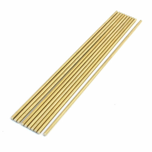 Lathe 200mm x 3mm Brass Axle Round Stock Drill Rod Bar 10Pcs X8U5