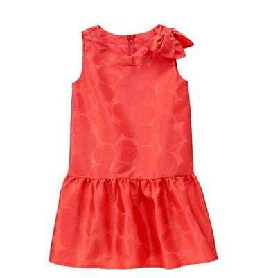 NWT GYMBOREE PLAY BY HEART OFF RED POLKA DOT DRESS