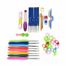 Buytra 57 Pieces 16 Sizes Stainless Steel Ergonomic Grip Crochet Hooks Yarn Knit