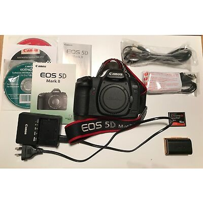 Canon EOS 5D Mark II DSLR Excellent Condition LOW shutter count (& LOWEPRO bag)