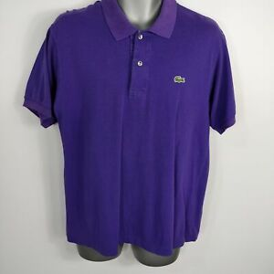 MENS-LACOSTE-PURPLE-SHORT-SLEEVE-POLO-SHIRT-TOP-SIZE-3-S-SMALL