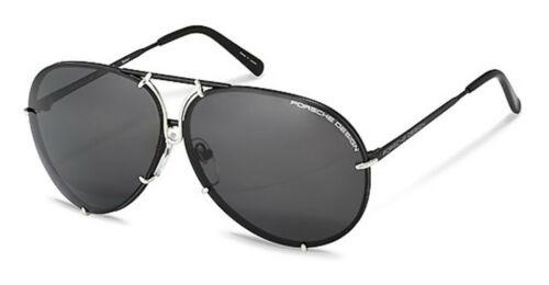 NEW Porsche P8478-J-6910 Black Silver 69mm Sunglasses