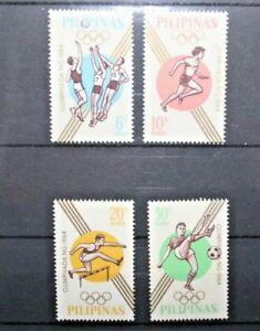FRANCOBOLLI-FILIPPINE-PHILIPPINES-1964-034-OLIMPIADI-TOKYO-034-MNH-SET-CAT-J