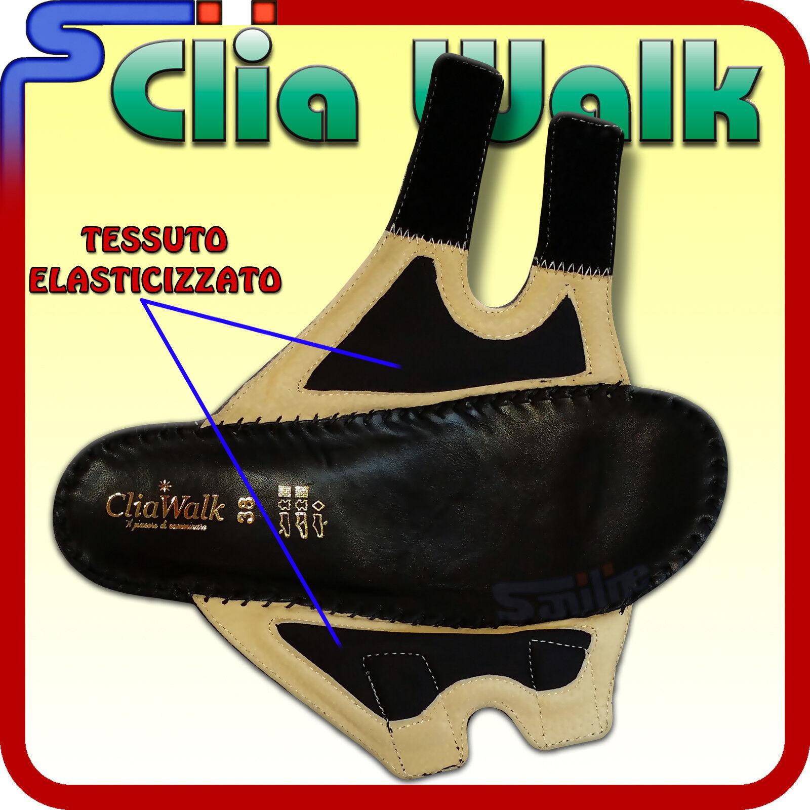 SANDALI CLIA WALK NERO SOFT NERO WALK IN PELLE SUPPORTO PLANTARE EXTRAMORBIDO CIABATTE A65 f2766e