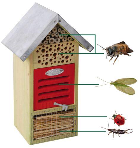 Esschert Design Insektenhotel Nistkasten Nisthöhle 19x14,5x32 cm NEU OVP