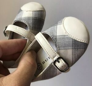 Burberry-Neuf-Taille-17-Nouveau-Nee-1-Mois-Bebe-Fille-Chaussure-Ballerine
