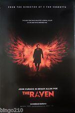 THE RAVEN ORIGINAL 2012 CINEMA 1 SHEET POSTER JOHN CUSACK EDGAR ALLAN POA