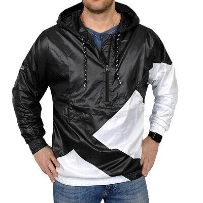 Klug Adidas Eqt Windbreaker Herren Schlupfjacke Wind Jacke Adv Hoody Men Schwarz/weiß