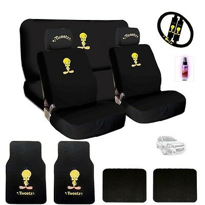 Ultimate Tweety Bird Car Seat Steering Headrest Covers Mats With Gift For Chevy