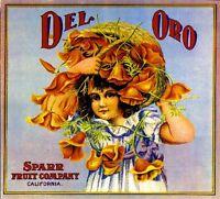 Los Angeles Del Oro California Poppy Orange Citrus Fruit Crate Label Art Print