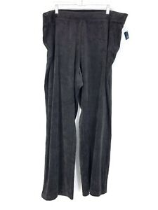 Karen Scott Sport Mujer Tamano Grande 2x Pantalones Informales Tire De Terciopelo Negro Nuevo Ebay