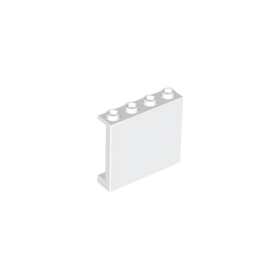 4 x LEGO 60581 Panneau Mur noir, black Wall Panel 1x4x3 NEUF NEW