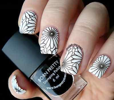 Born Pretty Black Nail Art Stamping Polish Nail Stamp Printing Varnish 6ml
