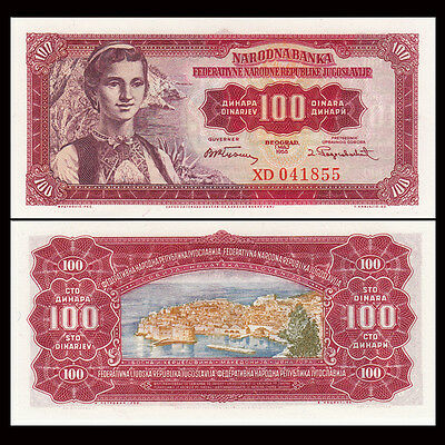 Yugoslavia 100 Dinar 1955 P 69 UNC