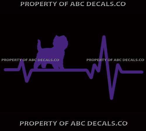 HEART BEAT LINE DOG CAIRN TERRIER Puppy Pup Adoption Rescue Love CAR VINYL DECAL