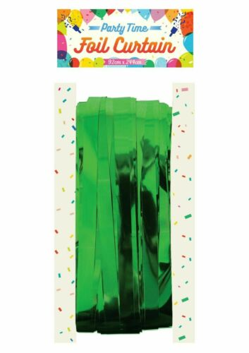 2.5M FOIL CURTAIN Fringe Tinsel Shimmer Door Birthday Party Wedding Decorations