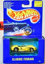 HOT WHEELS 1991 BLUE CARD CLASSIC FERRARI YELLOW