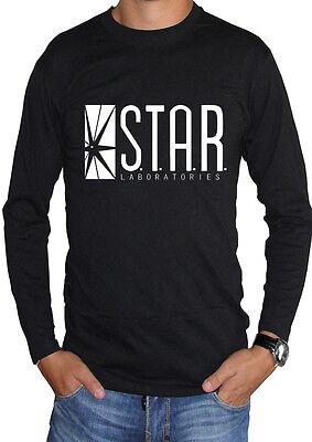 Affidabile Fm10 T-shirt Manica Lunga Unisex Flash Logo Star Labs Laboratories Cinema&tv