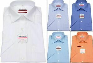 Mens Shirt Marvelis Tailored Modern Fit Non Iron Pure Cotton Button-Down Collar