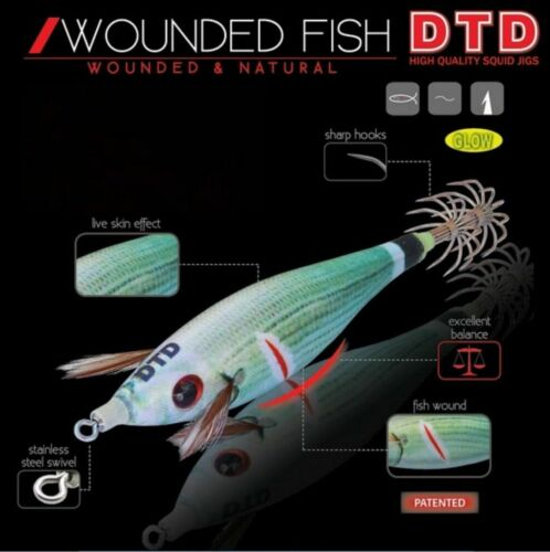 Dtd Hi Quality Squid Jig  Wounded /& Natural Fish Bukva 3.0