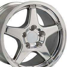 "17"" Polished C4 ZR1 Corvette Style Wheel 17 x 9.5 Rim Fits Camaro Firebird CP"