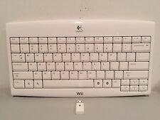Logitech Wireless Keyboard w/Receiver - Works Great!  (Nintendo Wii & Wii U)