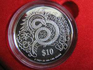 2001-Singapore-Mint-Year-of-The-Snake-Silver-Proof-2-in-1-Coin-Set-KM-179a
