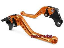 Orange Short Brake Clutch Levers For Kawasaki ZX1400/ZX14R/ZZR1400 2006-2012 07