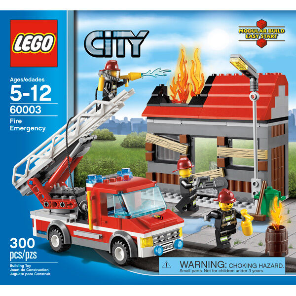 LEGO City - Model   60003 - Fire Emergency - 300 piece set - Age 5 -12 Y